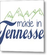 Made In Tennessee Blue Metal Print