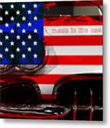 Made In The Usa . Chevy Corvette Metal Print