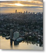 Madison Park And The Seattle Skyline Metal Print