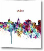 Madison Skyline Silhouette Metal Print
