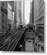 Madison St - Wabash Station - Chicago Loop Metal Print