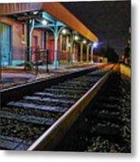 Madisonville Train Depot Metal Print