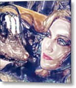 Madona Watercolor Metal Print