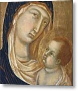 Madonna And Child Fragment  Metal Print