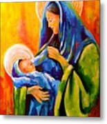 Madonna And Child Painting Metal Print