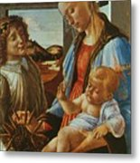 Madonna And Child With An Angel Metal Print