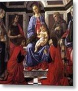 Madonna And Child With Six Saints Metal Print
