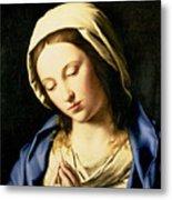 Madonna At Prayer Metal Print