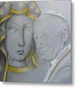 Madonna Nera E Giovanni Paolo II Metal Print