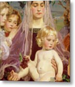 Madonna Of Giverny, 1901 Detail Metal Print