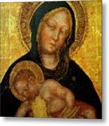 Madonna With Child Gentile Da Fabriano 1405 Metal Print