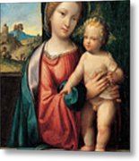 Madonna With The Child Metal Print