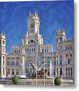 Madrid City Hall Metal Print by Joan Carroll