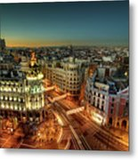 Madrid Cityscape Metal Print by Photo by cuellar