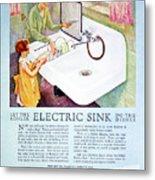Magazine Ad, 1926 Metal Print