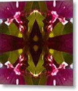 Magent Crystal Flower Metal Print