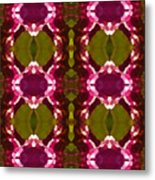 Magenta Crystal Pattern Metal Print by Amy Vangsgard