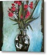 Magenta Oleander Metal Print