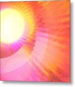 Magenta Orange Sunshine Metal Print