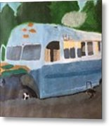 Magic Bus Metal Print