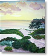Magic Dawn At A Hidden Beach Metal Print