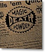 Magic Death Powder Metal Print