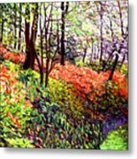 Magic Flower Forest Metal Print