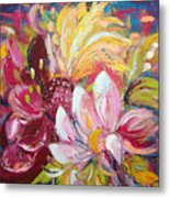 Magic Flowers Metal Print