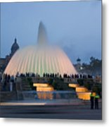 Magic Fountain In Barcelona Metal Print