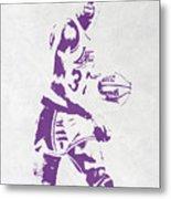 Magic Johnson Los Angeles Lakers Pixel Art Metal Print