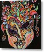 Magic Mask Metal Print