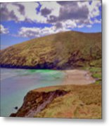 Magical Keem Beach Crowned By Clouds From Heaven Metal Print