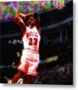 Magical Michael Jordan White Jersey Metal Print by Paul Van Scott