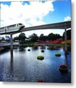 Magical Monorail Ride Metal Print