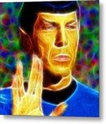 Magical Mr. Spock Metal Print