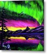 Magical Night Meditation Metal Print