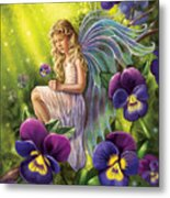 Magical Pansies Metal Print