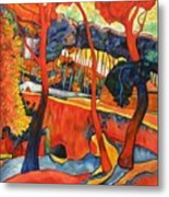 Magical Redwoods And Adobe Walls Metal Print