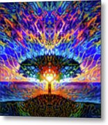 Magical Tree And Sun 2 Metal Print