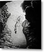 Magical Underwater Cave Metal Print