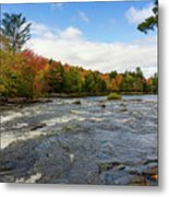 Magnetawan River In Fall Metal Print
