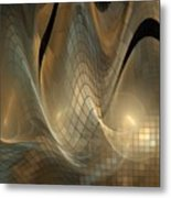 Magnetic Sand Fields Metal Print