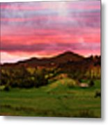 Magnificent Andes Valley Panorama Metal Print