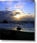 Magnificent Bandon Sunset Metal Print
