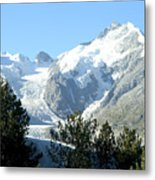 Magnificent Swiss Glacier Metal Print