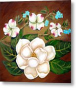 Magnolia And Dogwood Metal Print