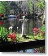 Magnolia Place Pond Metal Print
