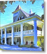 Magnolia Plantation House Metal Print