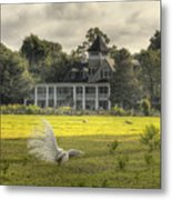 Magnolia Plantation House Metal Print