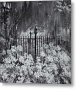 Magnolia Plantation Lightpost Metal Print